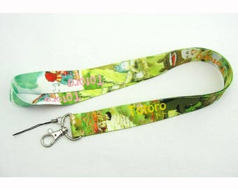 Totoro Neck Strap Lanyard Green Nylon Fabrick Cell Phone Camera ID Card Keychain Anime Gift