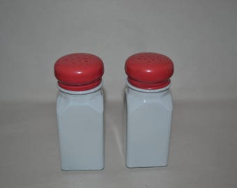 Vintage 1950s Diner Salt Pepper Shakers