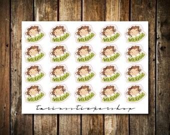 Weekend - Cute Brunette Girl - Functional Character Stickers