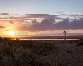 Ocean photo print on canvas, Spain, ocean, sea, sunset, photographic print, travel photography, giclee, landscape, digital art, island
