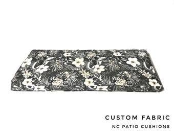 Custom Window Seat/Bench Cushion Floral Custom Fabric Custom Size