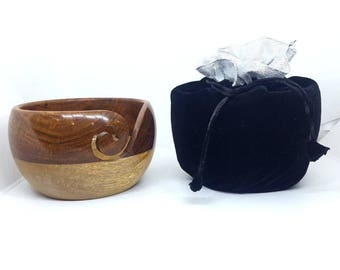 Mango sheesham wood yarn bowl
