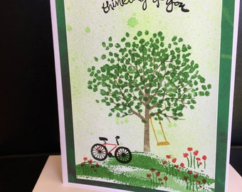 Handmade Card, Stampin Up, Custom Sentiment that You Choose, Coordinating Envelope, Shippin Included.