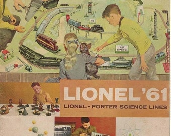 Lionel 1961 Train Lines Catalog The Lionel  Porter Science Lines 72 Pages