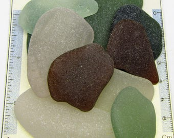 11 Giant Pieces of Coloured Scottish Sea Glass Pieces from Prestonpans for Jewellery /Arts/Craft, Vintage Genuine Scottish sea glass pieces.