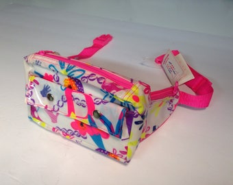 Vintage 1989 Barbie Style by Applause neon pink vinyl fanny pack NWT Original tags 80s 1980s fashion