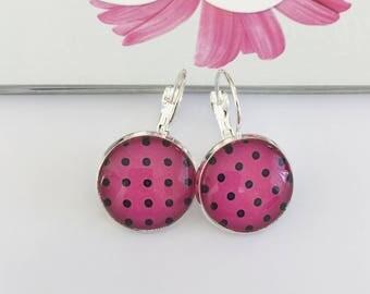 Pink Monogram earrings