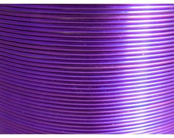 Aluminum wire 1 mm purple/lilac - jewelry creations and floral designs - roll of 2.60 m