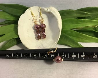 Women's Jewelry - Purple Beaded Set