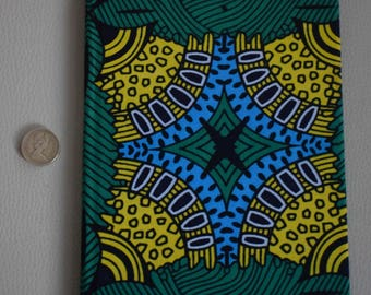African print fabric 2018 A5 weekly Diary Planner Calendar Agenda week to view Vibrant Unique Original Hardback Ankara Dovetailed London