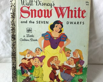 1977 Walt Disney's Snow White and the Seven Dwarfs. Little Golden Book