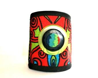 jungle art free Cuff Bracelet