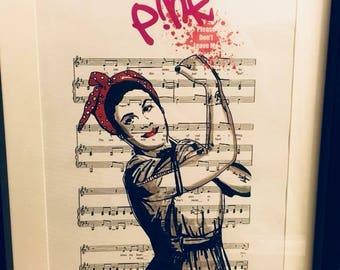 P!nk sheet music art