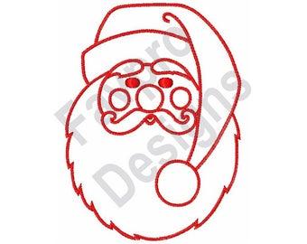 Santa Outline - Machine Embroidery Design
