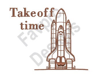 Take Off Time - Machine Embroidery Design