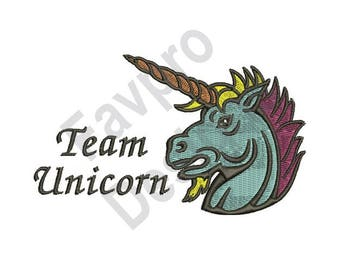 Team Unicorn - Machine Embroidery Design