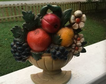 1960's Fruit Basket Door Stop, Vintage John Wright Door Stop.
