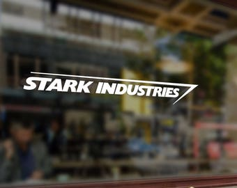 Stark industries Iron man Tony Vinyl Stickers Funny Decals Bumper Car Auto Computer Laptop Wall Window Glass Skateboard Room
