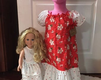 Girl Peasant Dress with matching American Girl Skirt, size 4/5