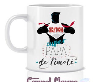 "Mug gift dad father's day ""super Dad"""