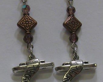 Erie Canal Boat Earrings E59