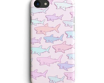 Pastel Shark iPhone 6 case, iPhone 6s Plus case, iPhone 6s case, iPhone 6 plus case 5s, 5c, kawaii, Cute , cover , jaws , pink , purple