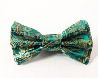 Mens Bow Tie, Formal Bow Tie, Suit Bowtie, Brocade Bow Tie, Prom Bow Tie, Wedding Bow Tie, Mens Fashion Accessories, Mens Bowtie DS702