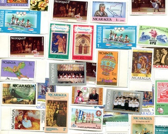 40 Unused Postage Stamps From Nicaragua