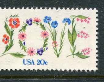 Love Stamps 5 Unused /USA Postage Stamps/Love Theme