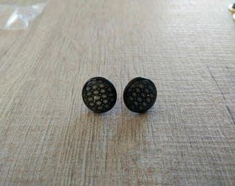 white stars earrings