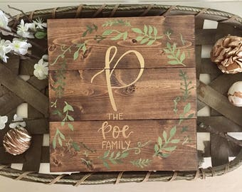 Custom Family Name Sign, Last Name Sign, Wood Pallet Sign