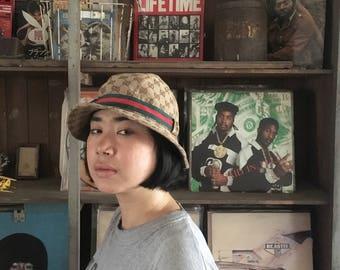 Vintage GUCCI GG Monogram Bucket Hat