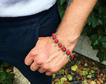 Punk rock Pink Seed Beads & Czech glass