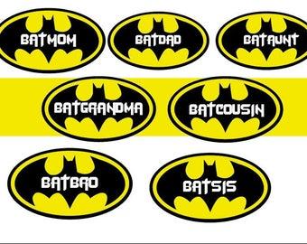 Family birthday batman shirts- set