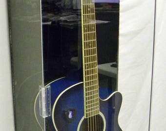 Acrylic Guitar Display Case All Acrylic Crystal Clear Guitar Electric Case BLACK ACRYLIC BACKGROUND