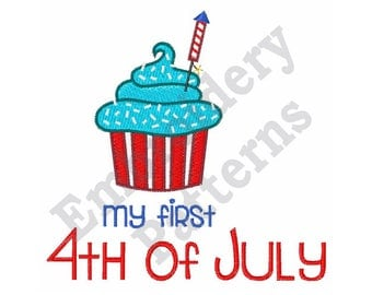 First Fourth Of July - Machine Embroidery Design