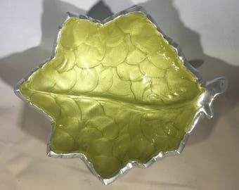 Julia Knight Leaf-Shaped Bowl Mother of Pearl