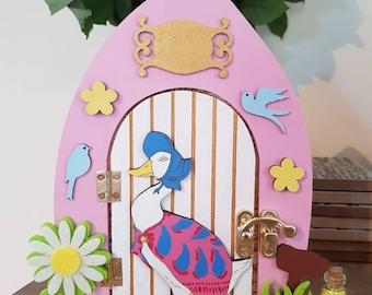 Jemima Puddle Duck Beatrix Potter Fairy Elf Door