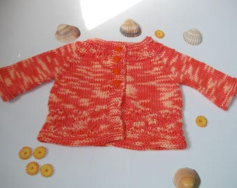 VEST TOPDOWN BABY GIRL KNITTED HANDS