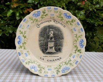 Plate advertising George Sand - French Faience - collection - vintage - 40-50's-