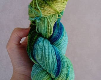 "100% Macomerinos ""Lagoon"" hand dyed wool"