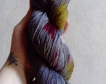 """Wool hand dyed by hand wool-Polyamide """"Collection in the calanques"""""""