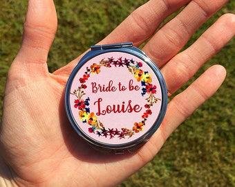 Bride To Be Pocket Mirror, Pocket Mirror, Bridesmaid Mirror, Bridesmaid Gift, Wedding Gift, Bridesmaid Little Present