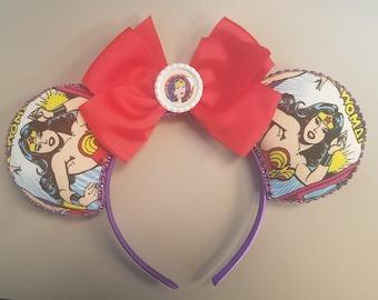 Wonder Woman Mouse Ears