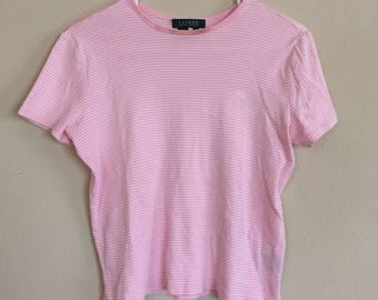 Pink Striped Ralph Lauren Shirt