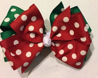 Three in One Christmas Hairbow