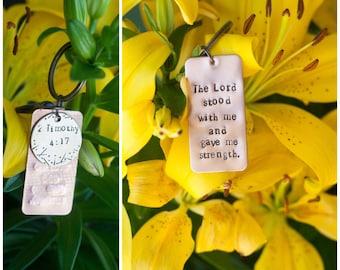 Custom Bible Verse Keychain