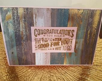 Metallic Congratulations Card