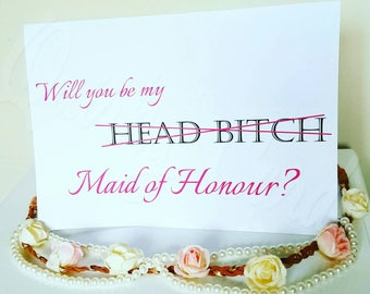 Wedding, Will you be my Bridesmaid/Maid of Honour? Cards