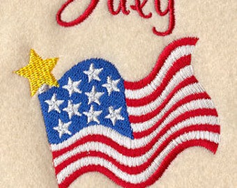 Monthly Celebrations - July - American Flag (3 x 4) Iron-on Patch // Iron on Patch // Embroidered Patch // MADE TO ORDER